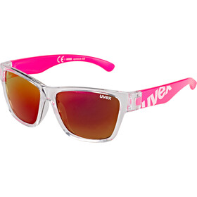 UVEX Sportstyle 508 Glasses Kids clear pink/red